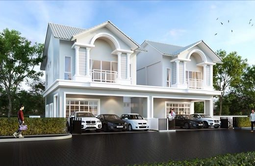 ใหม่ บ้านอิสระ & บ้านแฝด โครงการ The Symphony Sriracha ในศรีราชา จังหวัดชลบุรี 4 ห้องนอน
