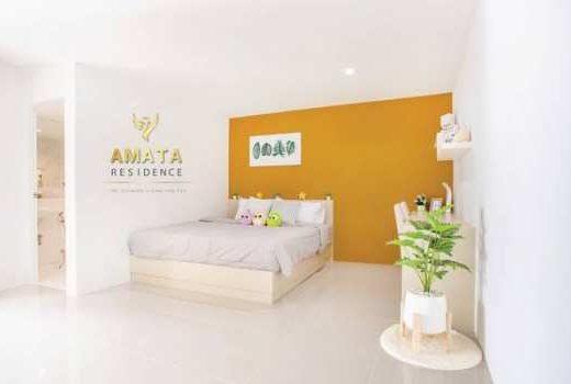Amata Residence อพาร์ตเม้นท์ สไตล์คอนโด ที่สวย น่าอยู่ ใหม่ที่สุด สิ่งอำนวยความสะดวกครบครันที่สุดในบ่อวิน